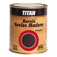 Barniz Madera Satinado 1 Lt Incoloro Interior Poliuretano Suelo Maderaera Titan