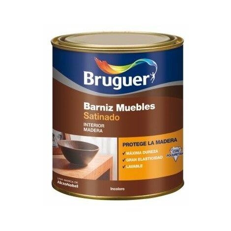 Barniz Madera Satinado 250 Ml Incoloro Interior Sintetico Muebles Bruguer