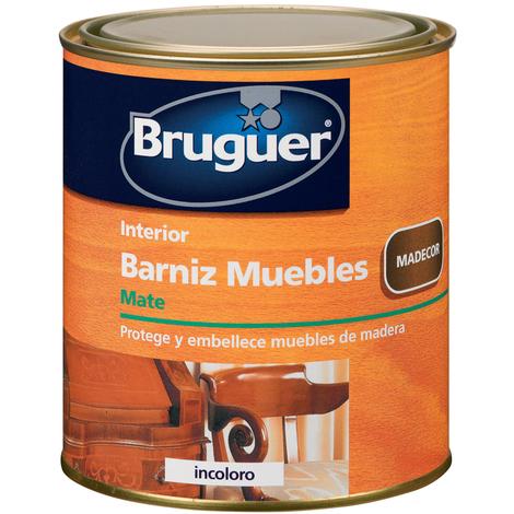 Barniz Muebles Mate Incoloro - BRUGUER - 5160549 - 750 ML