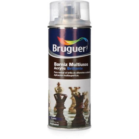 BARNIZ MULTIUSO ACRYLIC BRILLANTE SPRAY INCOLORO 0.4L BRUGUER - NEOFERR