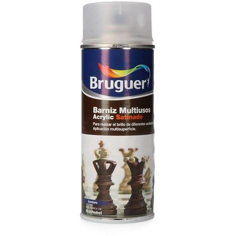 BARNIZ MULTIUSO ACRYLIC SATINADO SPRAY INCOLORO 0.4L BRUGUER - NEOFERR