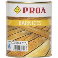 Barniz proa tapaporos al agua 750 ml, Transparente 0.75lts