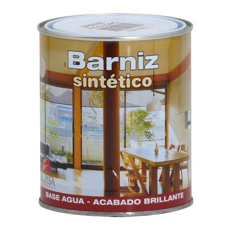 Barniz sintético al agua incoloro brillante Bupisa | 375 mL
