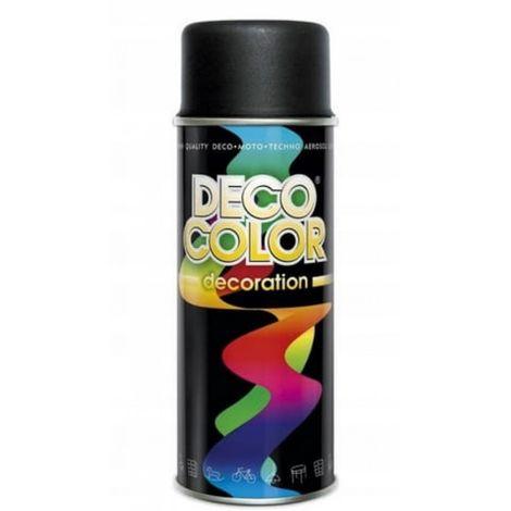 Barniz spray 400 negro mate ral9005 pintura