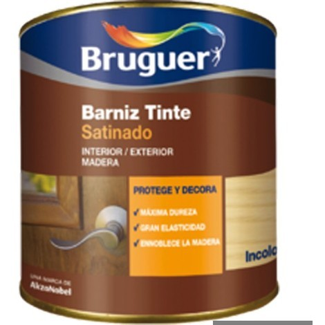 Barniz Tinte Sat Roble - BRUGUER - 5160555 - 750 ML