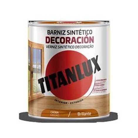 Barniz tinte sintético caoba Titan