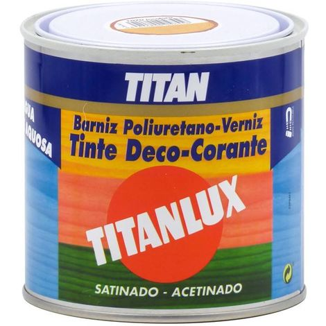 BARNIZ TINTE TITANLUX SATINADO AGUA ½ LT