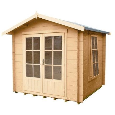 Barnsdale Log Cabin Home Office Garden Room Approx 8 x 8 Feet