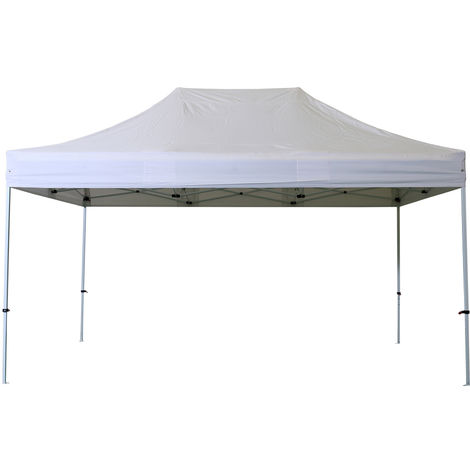 Barnum Cubierta de techo plegable 2x3m Poliester 300g / m2 Pelicula de PVC - ACERO 32 Y ALU 40 - BLANCO