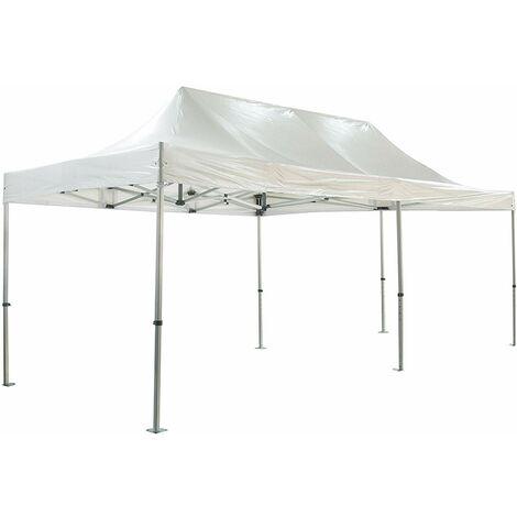 Barnum plegable 4x8m 50mm premium aluminio PRO 520Gr / m2 impermeable blanco Carpa Recepción Calidad - Blanco
