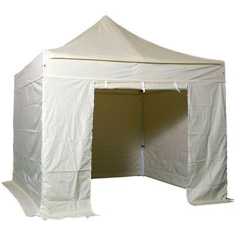 Barnum pliant 3x3m Pack complet Alu 40 polyester 300g/m² pelliculé PVC