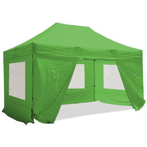 Barnum pliant 3x4.5m Pack fenêtre Alu 40 polyester 300g/m² pelliculé PVC Plusieurs coloris