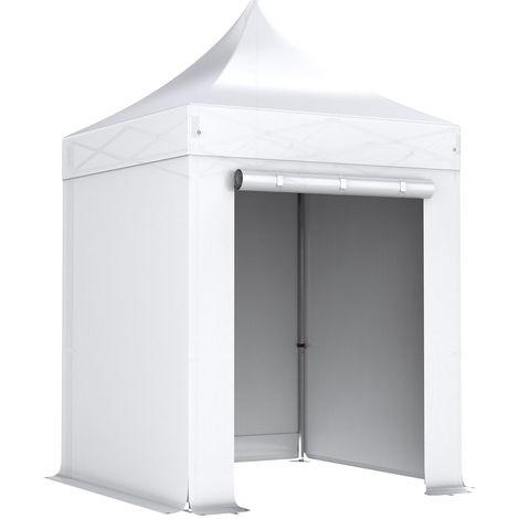 Barnum pliant tonnelle 2x2m Pack complet Alu 40 polyester 300g/m² pelliculé PVC BLANC - Blanc