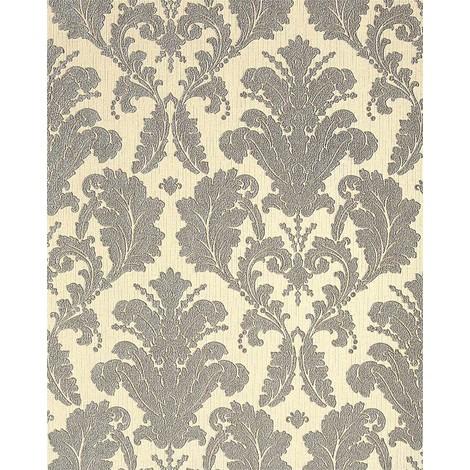Baroque damask wallpaper wall EDEM 752-34 cream chamganger-white platin-grey 5.33 sqm (57 sq ft)