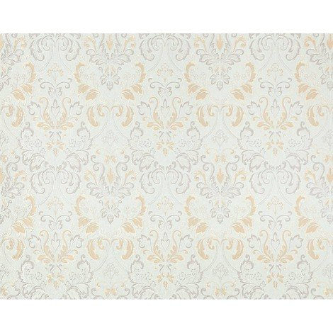 Baroque non-woven wallpaper wall royal damask EDEM 966-24 luxury light ivory oyster white gray 26.50 sqm (285 sq ft)