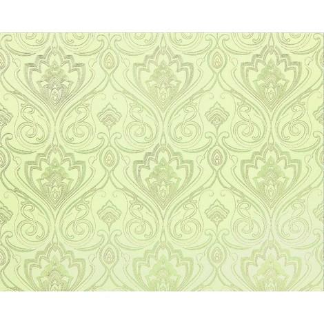 Baroque paste the wall wallpaper XXL EDEM 993-38 nonwoven hot embossed elegant damask pattern light green off-white grey glitter 10.65 m2