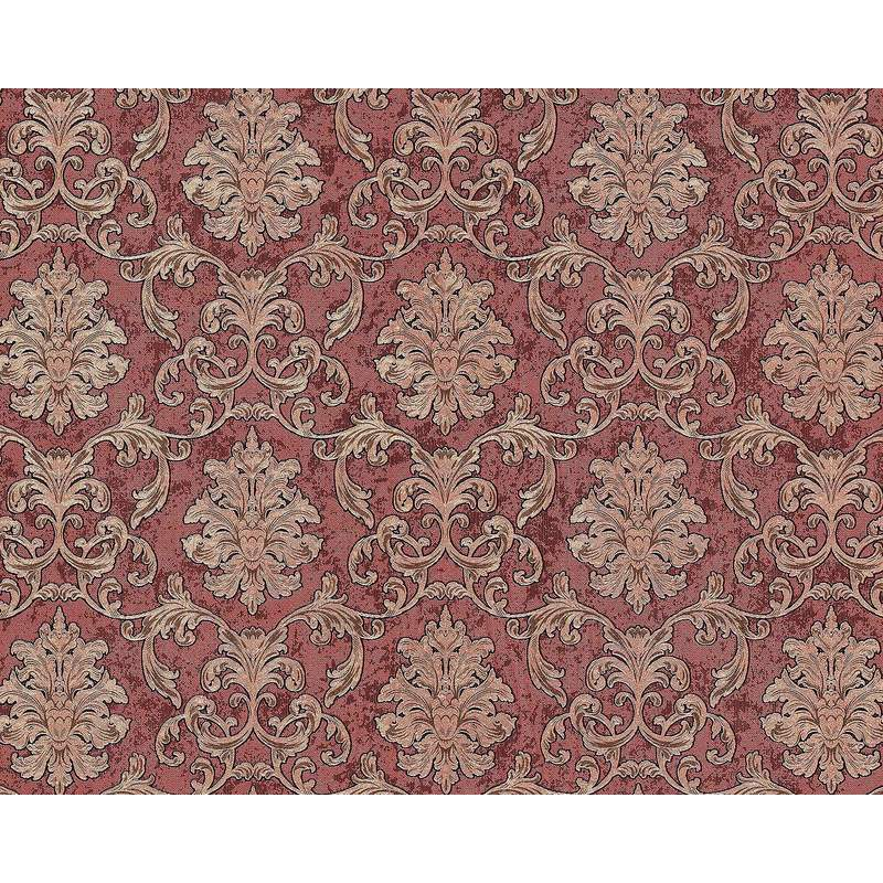 Image of Baroque wallcovering wall 6001-94 non-woven wallpaper embossed with ornaments glittering red copper gold 10.65 m2 (114 ft2) - Edem