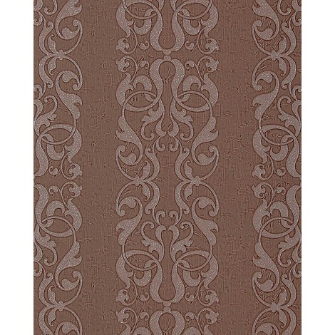 Baroque wallpaper wall EDEM 829-26 exclusive decorative stripes damask pattern chocolate-brown pearl effect 75 sq ft