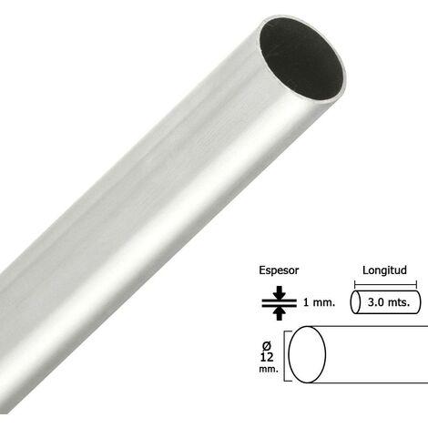 Barra armario cromado redondo 12 mm. ø (barra 4,0 metros)