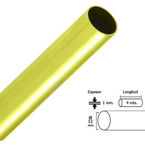 Barra armario dorado redondo 12 mm. ø (barra 4,0 metros)