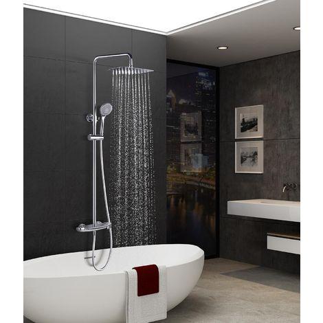 Barra de ducha acero inoxidable termostática serie Sidney - IMEX