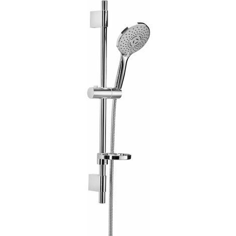 barra de ducha ajustable de acero inoxidable Damast 7cento 14401   Cromo