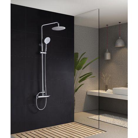Barra de ducha cromado/negro monomando serie Elba - IMEX