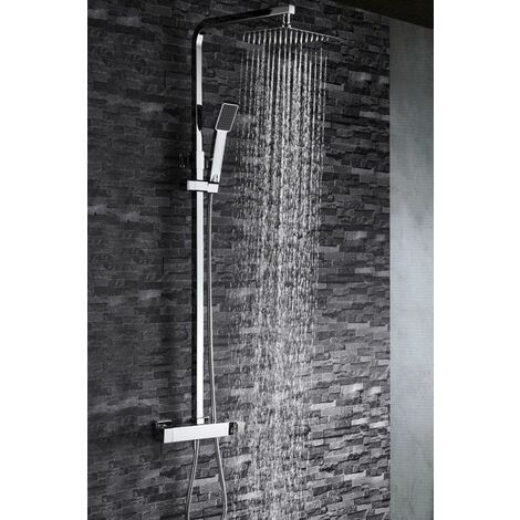 Barra de ducha cuadrada cromado Serie Fiyi - IMEX