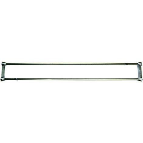 Barra de ducha doble MSV de acero inoxidable 125-225 cm