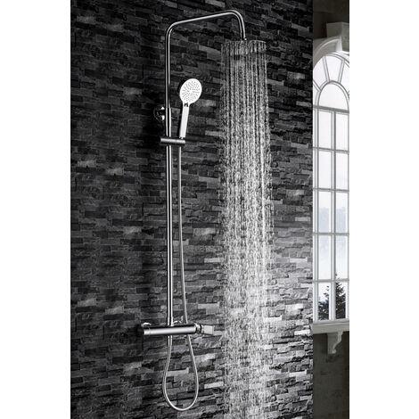 Barra de ducha extensible de acero cromado Serie Nassau - IMEX