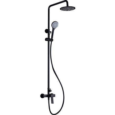 Barra de ducha negro mate monomando serie Luxor - IMEX