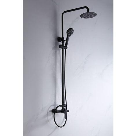 Barra de ducha negro mate Serie Roma - IMEX