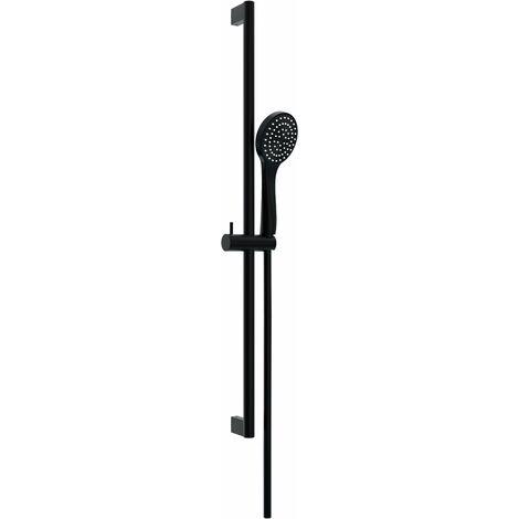 Barra de ducha redondo de pared para ducha color negro mate Ponsi BNASTKAS42 | Negro mate