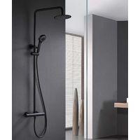 Barra de ducha termostatica negro mate Serie Londres - IMEX