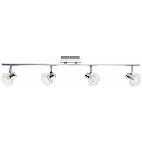 Barra de foco de luz de techo lámpara de cromo ajustable iluminación de dormitorio Globo 56563-4