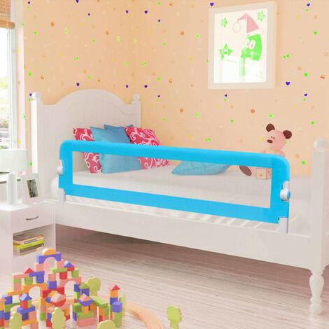 Barra de seguridad para cama de nino 2 unidades azul 150x42 cm