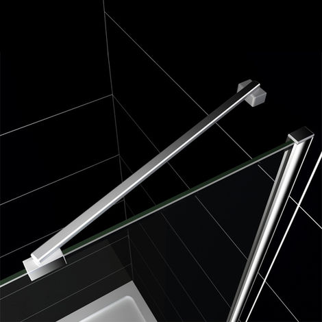 Barra de soporte 40 cm para Panel de ducha Mamparas de baño - Aica