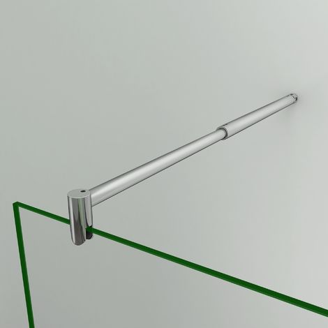 Barra deFijación Telescópica Redonda 70cm a 120cm Extensible para Mamparas de Ducha