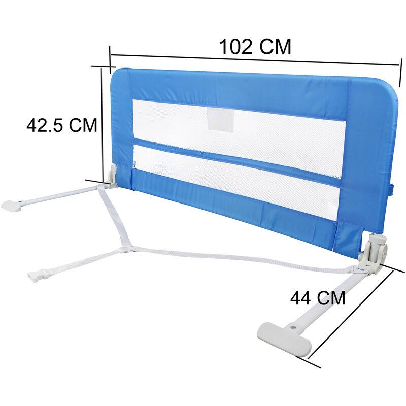 Barriera Letto Pieghevole.Barra Di Protezione Letto Bambini Barriera Letto Pieghevole 1 02 Metri Blu Materiale Tessuto In Nylon Plastica