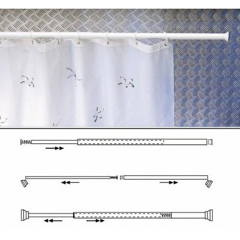 "main image of ""Barra Para Cortina Ducha Extensible Aluminio Blanco125 a 220 cm - NEOFERR.."""