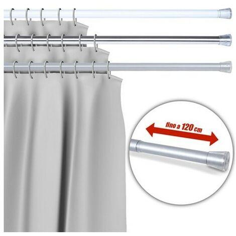 Barra Per Tenda Doccia.Barra Telescopica Per Tenda Da Doccia 70 Cm Fino A 120 Cm Alluminio