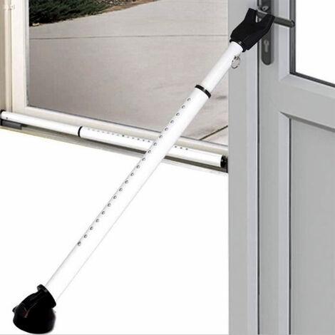 Barre Anti Effraction - Sécurité pour Portes et Fenêtres - Renfort en Acier Ø 3,7 cm - Ajustable