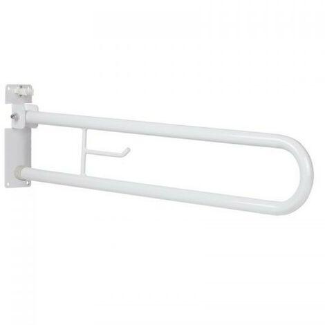 Barre d'appui pliante de couleur blanche pour salles de bains pour personnes à mobilité réduite Idral Easy 12005V-12005R