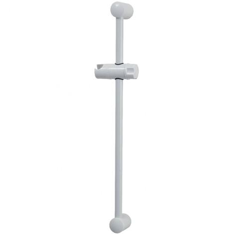 Barre de douche ø 19 mm finition blanc