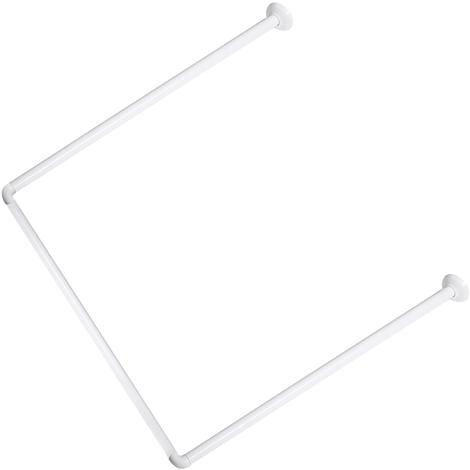 Barre de douche 3 côtés 80x80x80 Cm Blanc