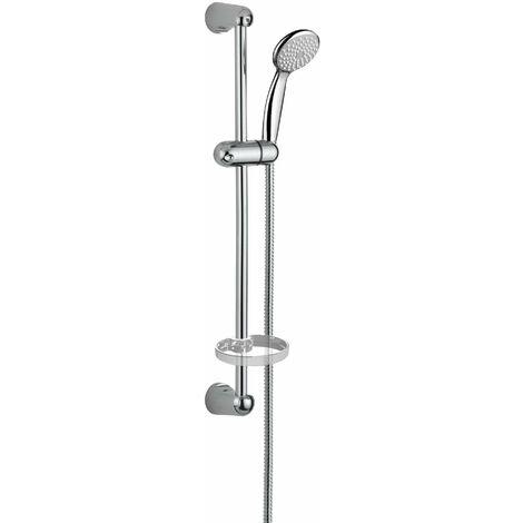Barre de douche avec douchette et flexible Damast Economy 2.0   Chromé