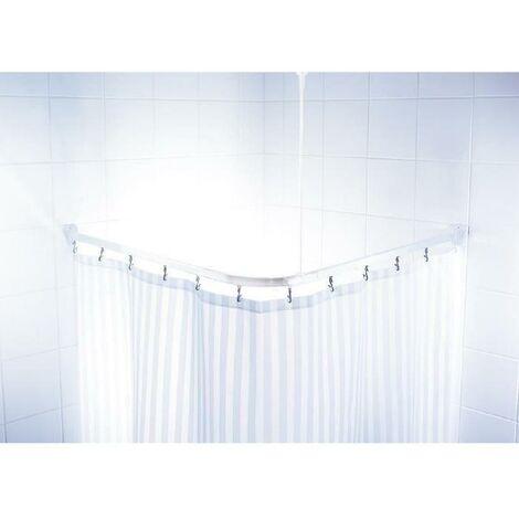 Barre de douche d'angle coulissantes + crochets - 90 x 90 x 90cm - Blanche Ridder