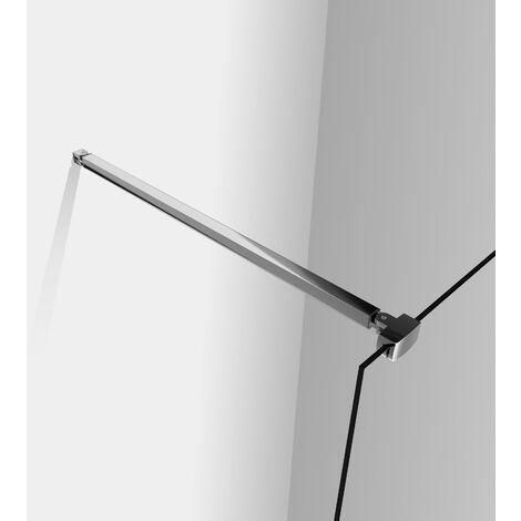 Barre de fixation 90 cm barre de stabilisation avec la pince renforcé barre de douche en aluminium en chromé