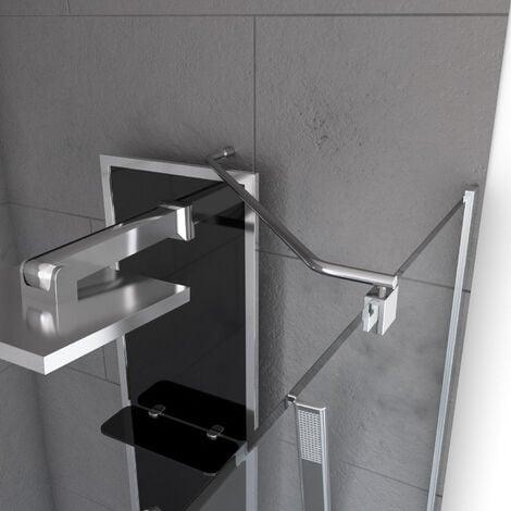 Barre de fixation d'angle pour douche à l'italienne - FREEDOM 2 ANGLE - BARRE DE FIXATION MURALE D'ANGLE