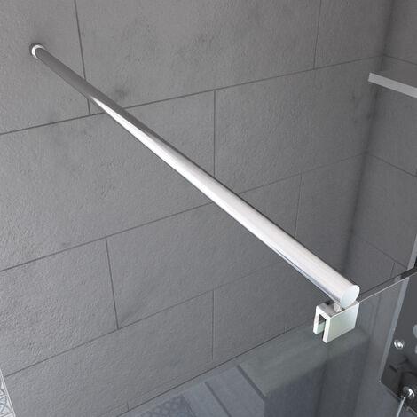 Barre de fixation recoupable pour douche a l'italienne - Barre droite 100 cm fixation murale